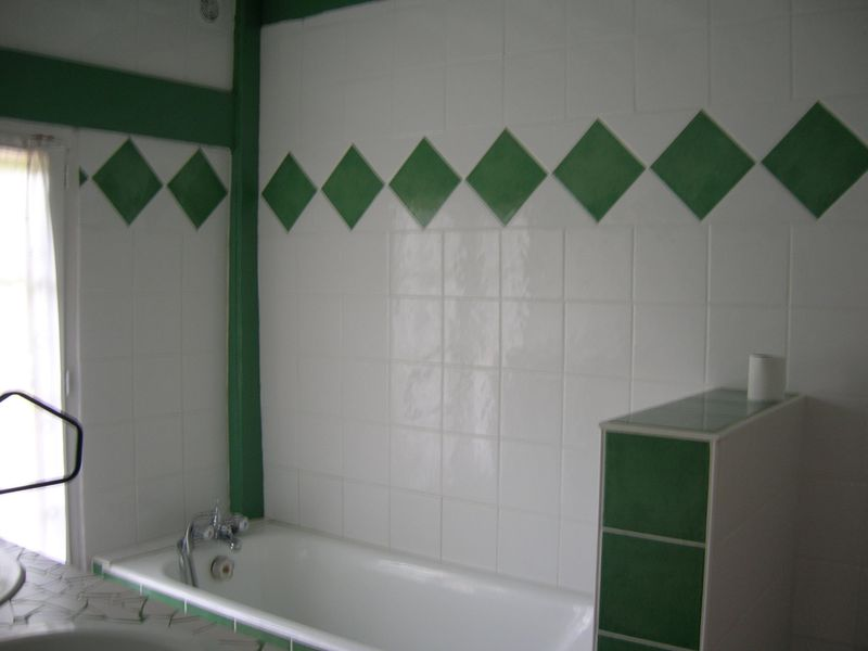 Emejing salle de bain blanc et verte images awesome for Salle de bain verte